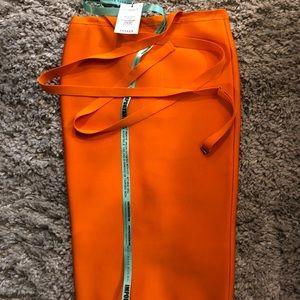 Mistress Rocks Orange Skirt.